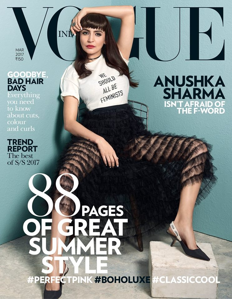 Anushka Sharma On The Cover Of Vogue India Magazine March 2017
