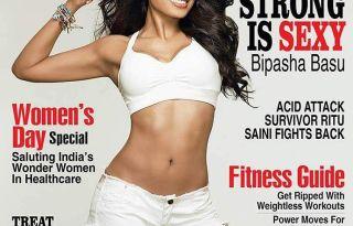 Bipasha Basu On The Cover Of Health&Nutrition India Magazine March 2017