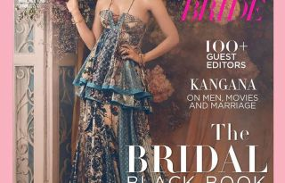 Kangana Ranaut On The Cover Of Harper's Bazaar Bride Magazine February 2017 Issue
