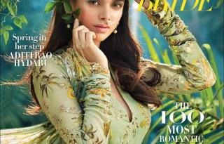 Aditi Rao Hydari On The Cover of Harpers Bazaar Bride Magazine March 2017