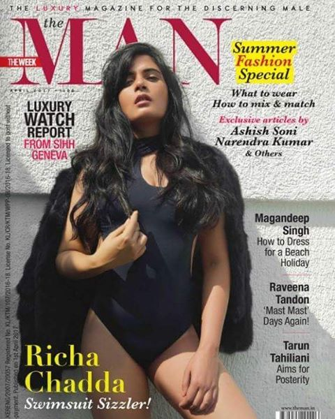 Richa Chadha Photoshoot for The Man Magazine India April 2017