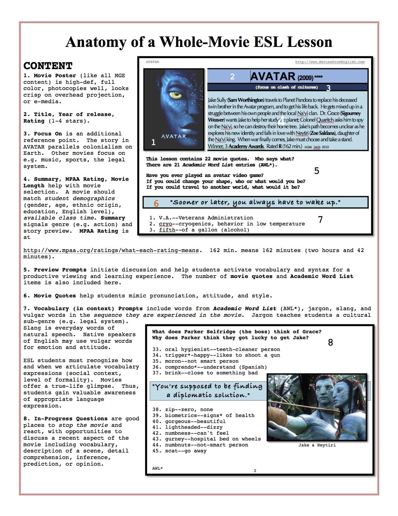 Movies In Classroom Generic Worksheet