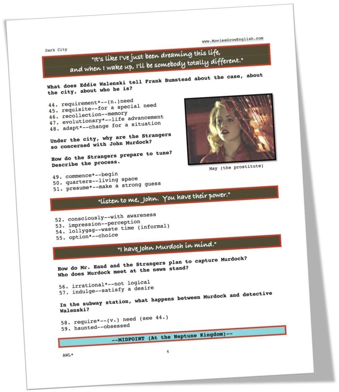 Esl Movie Lesson
