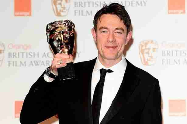 Peter Straughan with the Adapted Screenplay award for 'Tinker Tailor Soldier Spy',