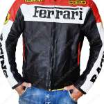 Red And Black Ferrari Biker Jacket Movies Jacket