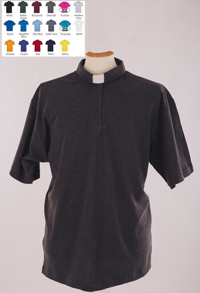 b8776eb9672a0e Men's OUTSIZE Clerical Clergy Polo Shirt in 17 Colours (ID: CP101XR) -  Moville Uniforms - Ireland & The UK