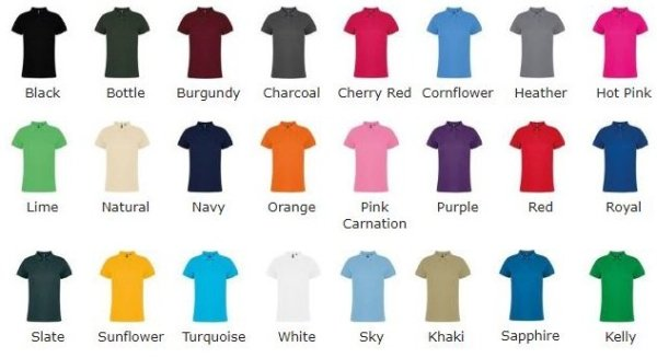colours available, 24 choices