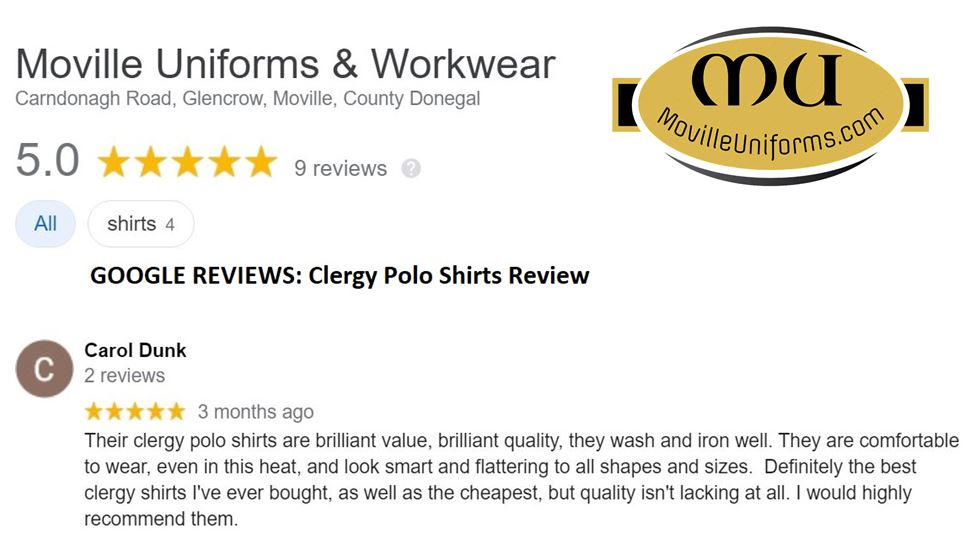 Clergy Polo Review - Google Review