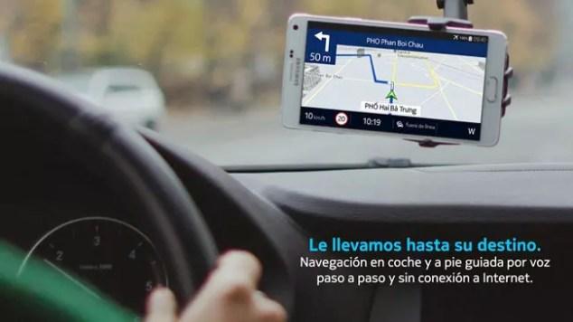 Navegacion GPS con HERE Maps