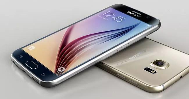 Samsung Galaxy S6 dorado y negro