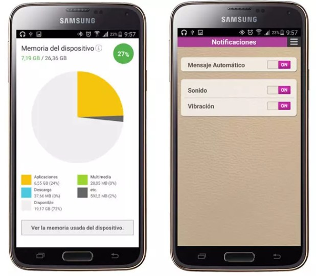 Opciones adicionales de Vitamins for Samsung mobile