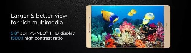 Pantalla del Huawei P8 Max