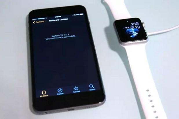 Versión del sistema del Apple Watch