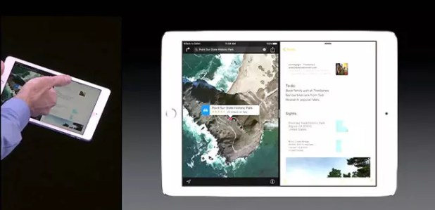 iOS 9 multitasking.