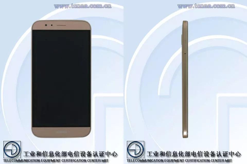 Huawei G8 dorado frontal y lateral
