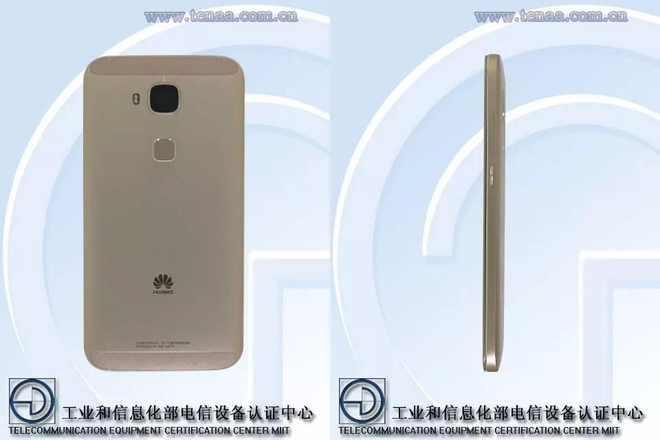 Huawei G8 dorado trasera y lateral