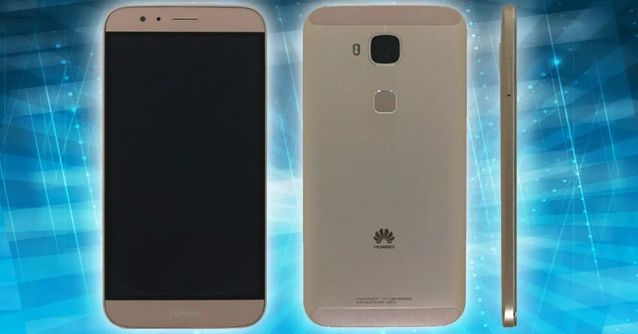 Huawei G8 vistas frontal trasera y lateral