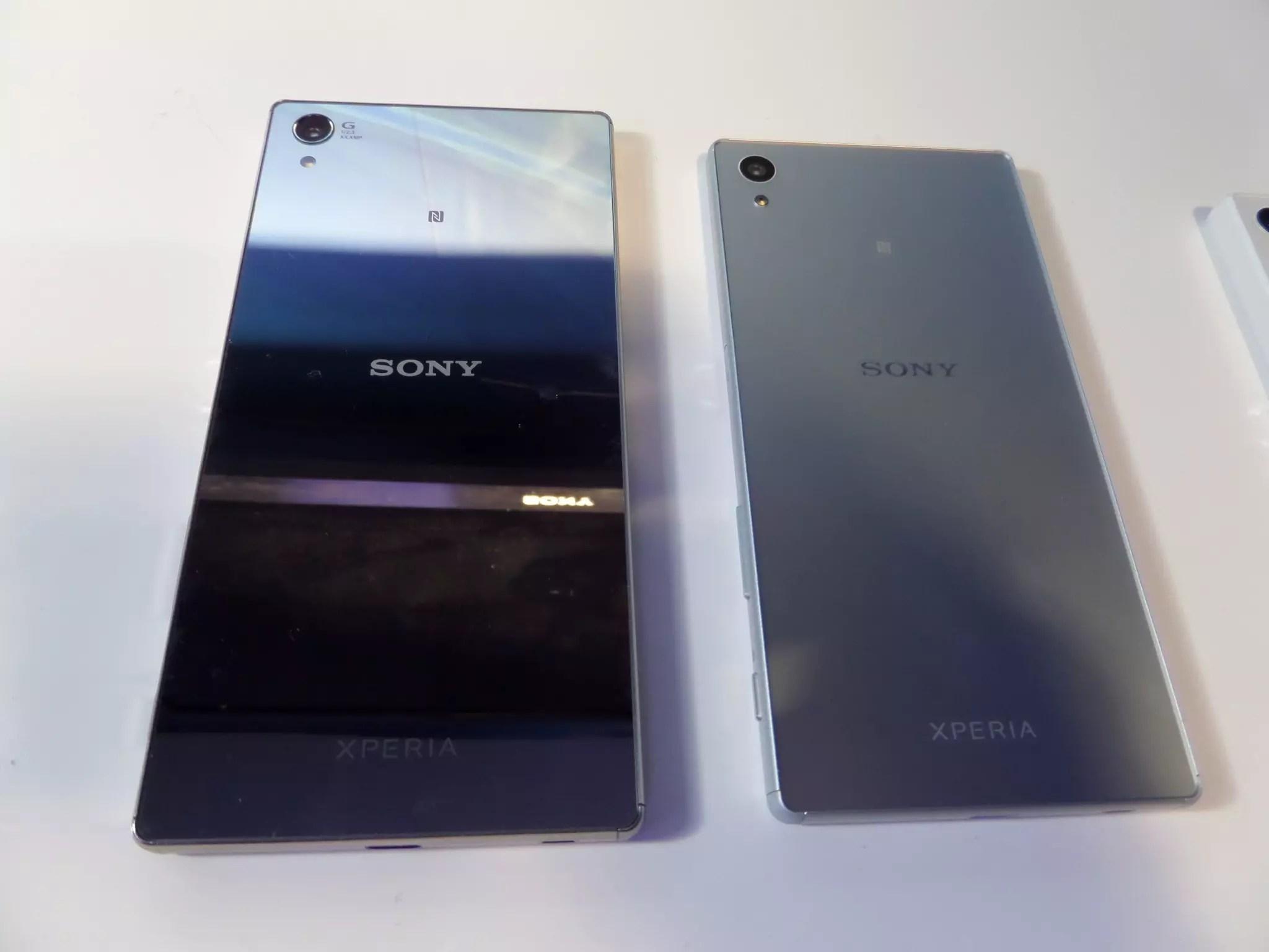 Sony Xperia Z5 y Z5 premium trasera plata