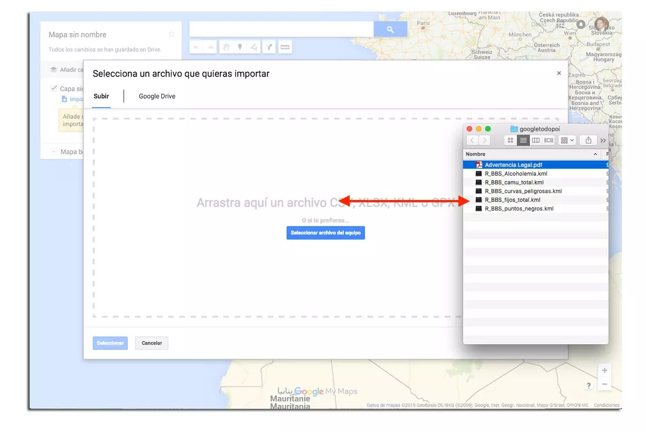 paso 4 google maps radares