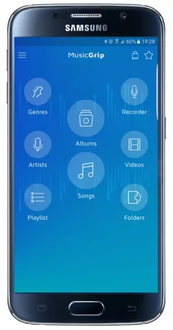 Interfaz de MusicGrip