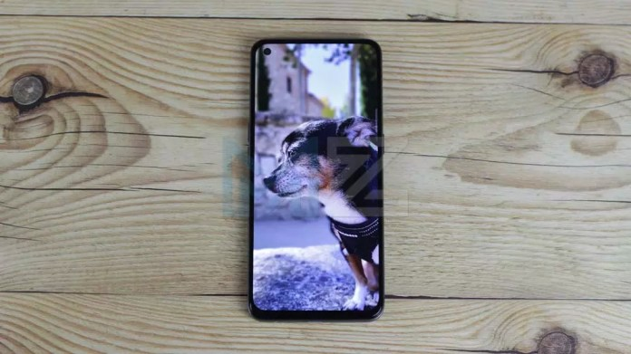 Image on the screen of the realme GT Master Edition