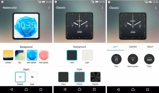 Sony Smartwatch 3 nuevas esferas