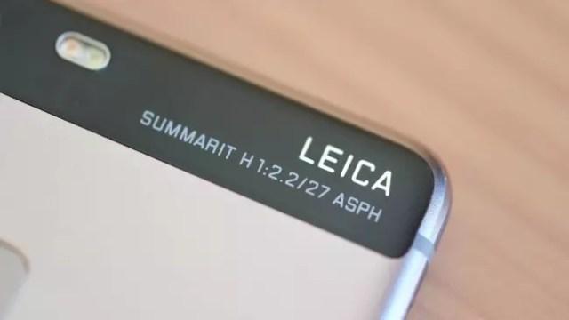 Logotipo de Leica en el Huawei℗ P9