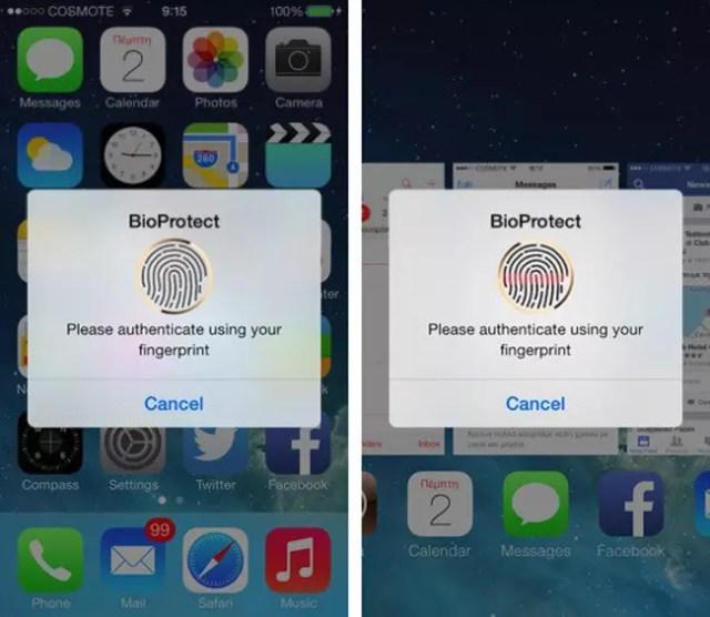 BioProtect para iPhone