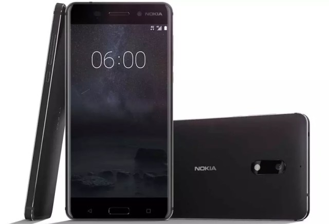 Nokia 6 de color negro