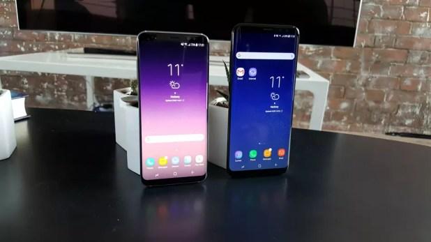 Samsung Galaxy S8 con Samsung Galaxy S8 Plus al lado
