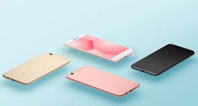 Xiaomi Mi5c dorado, rosa, blanco y negro