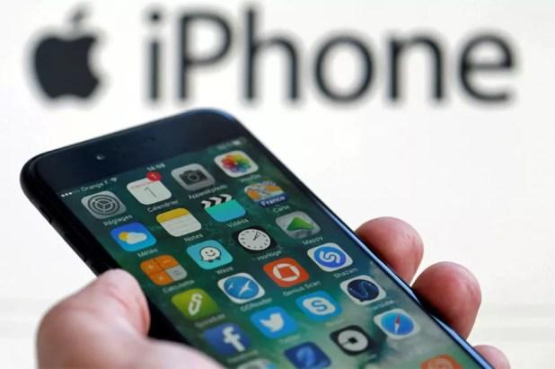 Pantalla de un iPhone