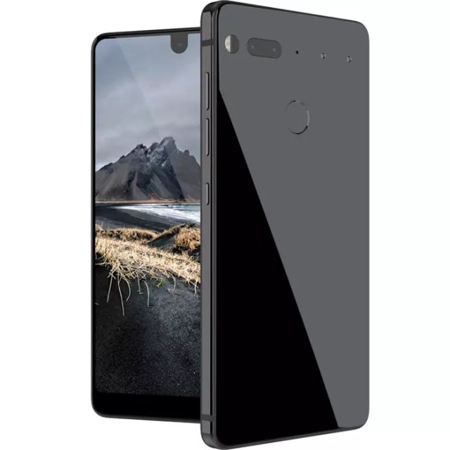 Carcasa negra del Essential Phone