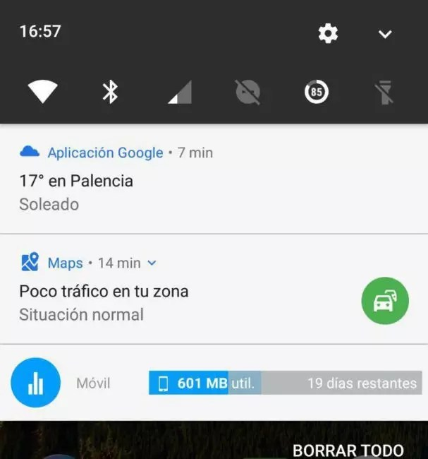 poco tráfico de google maps