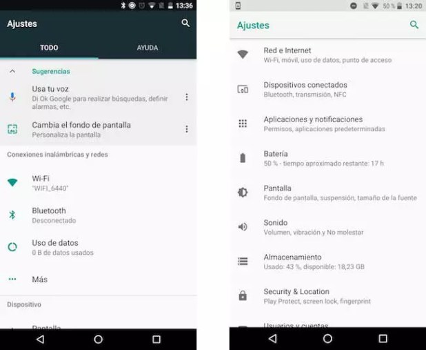 Android N y Android O