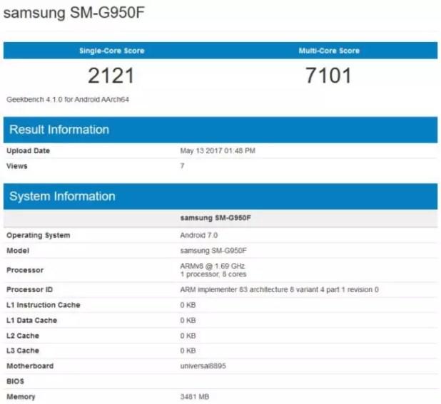 rendimiento del Samsung Galaxy S8