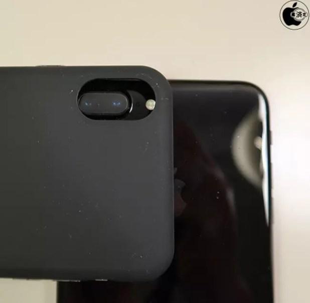 Cámara del iPhone 7 Plus con funda de iPhone 8