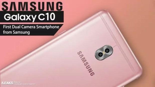 Doble cámara del Samsung Galaxy C10