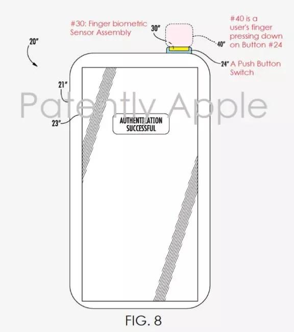 Sensor de huellas en el iPhone 8
