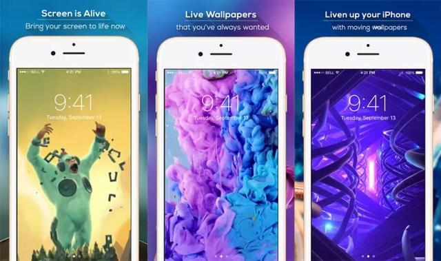 Fondos de pantalla animados de la app Themex para iPhone
