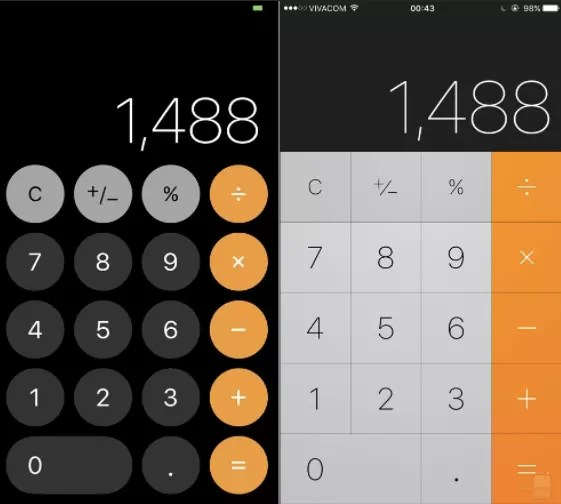 ios 11 vs ios 10 calculadora
