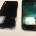 Pantalla del iPhone 8 junto a la del iPhone 7 Plus
