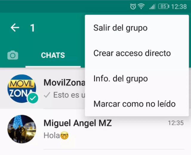 mensajes no leidos whatsapp