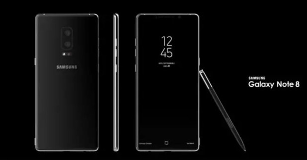 Samsung Galaxy Note 8 invitacion