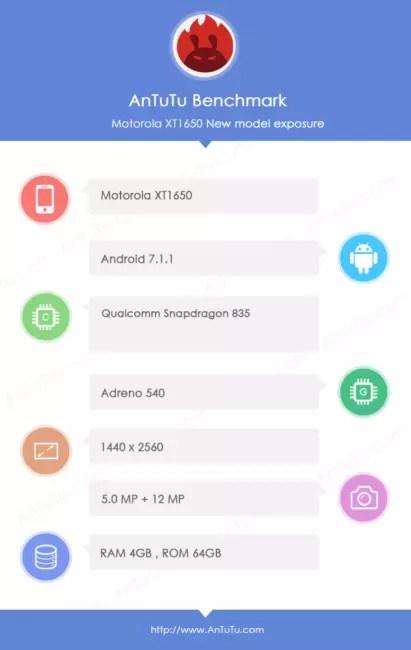 teléfono de Motorola℗ con Snapdragon 835