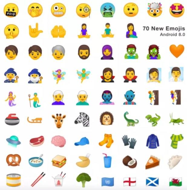 emojis android 8