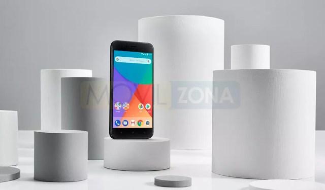 Xiaomi MI A1 negro con objetos grises