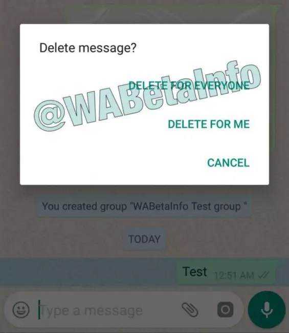 borrar mensajes enviados por whatsapp