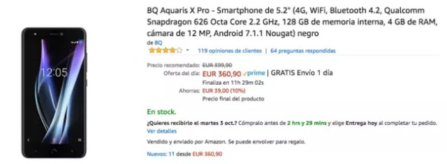 bq aquaris x pro amazon