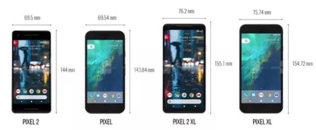 comparativa tamaño google pixel 2 vs <stro data-recalc-dims=